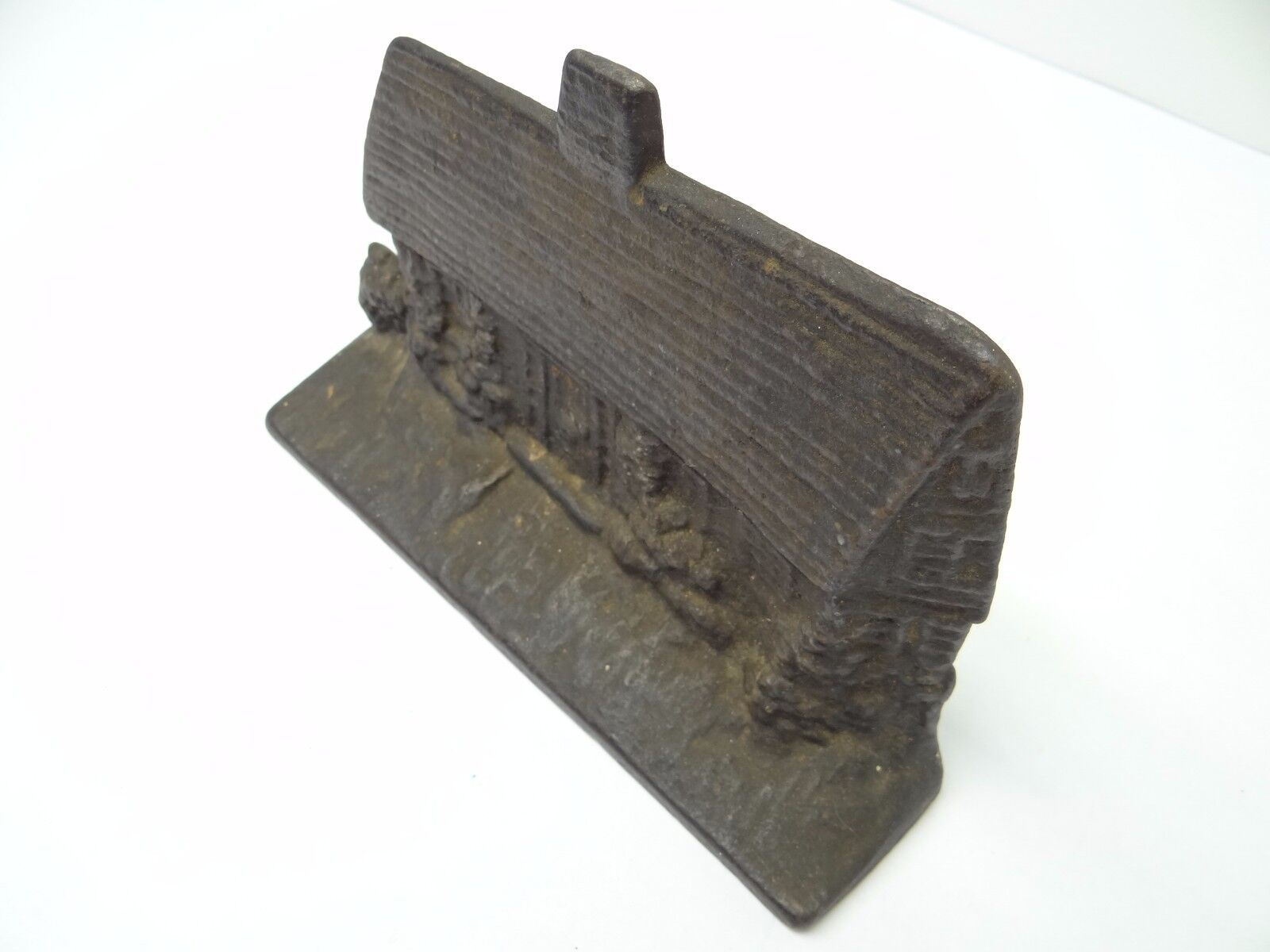 Antique Old Metal Cast Iron Heavy Cottage House Decorative