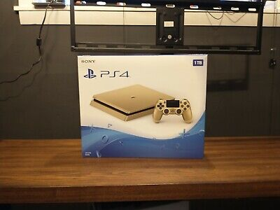 Sony PlayStation 4 Slim [Limited Edition] 1TB Gold Console [PS4] New Open Box