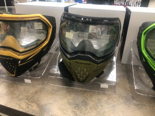 Empire EVS Paintball Goggle Mask - Olive/Black