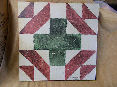 Christmas Star Quilt Block Pattern Canvas Home Decor Billy Jacobs NEW ()