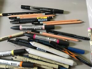 Assorted Lot of Professional Art Supplies