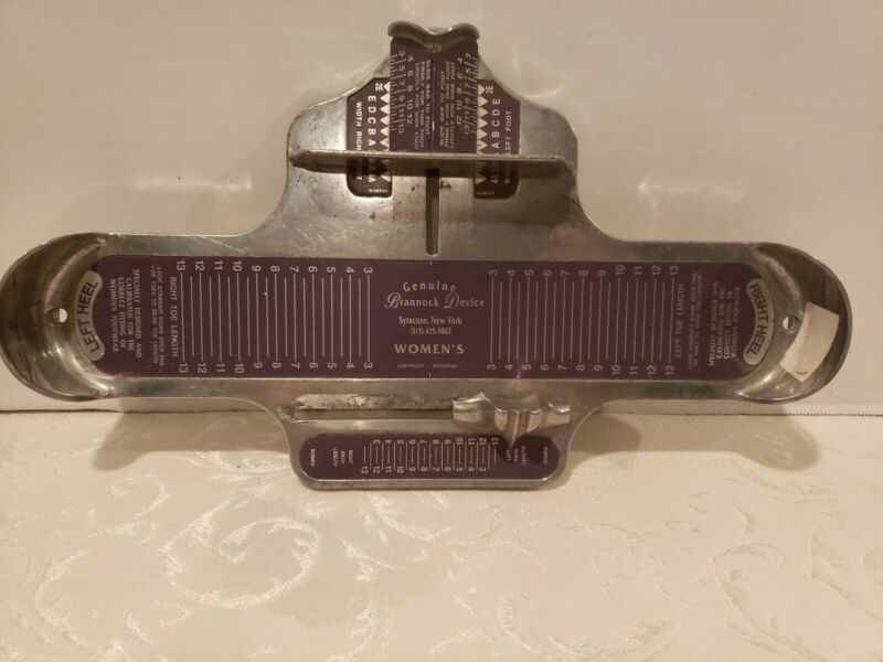 BRANNOCK DEVISE WOMANS  SHOE FOOT SIZE MEASURE TOOL