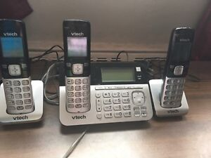 VTech Cordless Phone with 3 Handsets, Digital Answering Sys