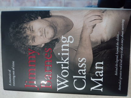 Signed Jimmy Barnes book (Working Class Man)