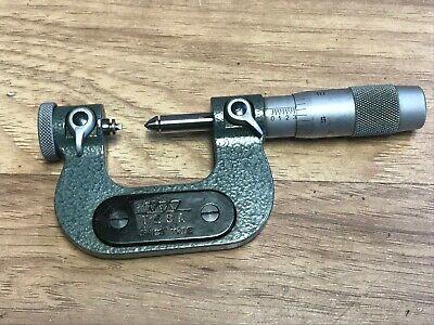 Tesa Interchangeable Thread Anvil Micrometer .001  0 - 1