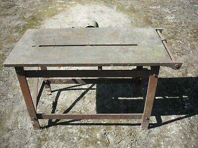 Cast iron saw bench, Garden table.