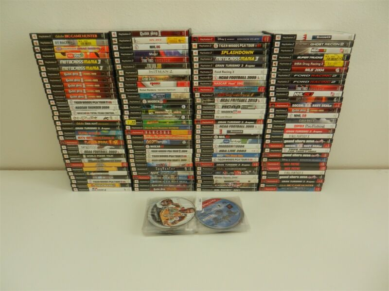 Lot of 151 PlayStation 2 PS2 Games - Max Payne, GTA, Ghost Recon