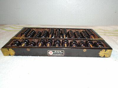 Vintage Lotus-Flower Brand Abacus 11 Rods: 9 Wood & 2 Metal 77 Wood Beads