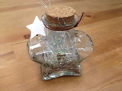 New Origami Star Shaped Jar Glass Favor Bottle with Cork- 3.5""