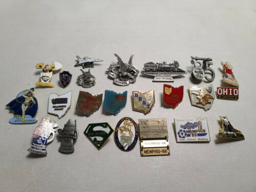 HUGE 24 Count Set Of Ohio Jaycee Pins - Many Super Rare!