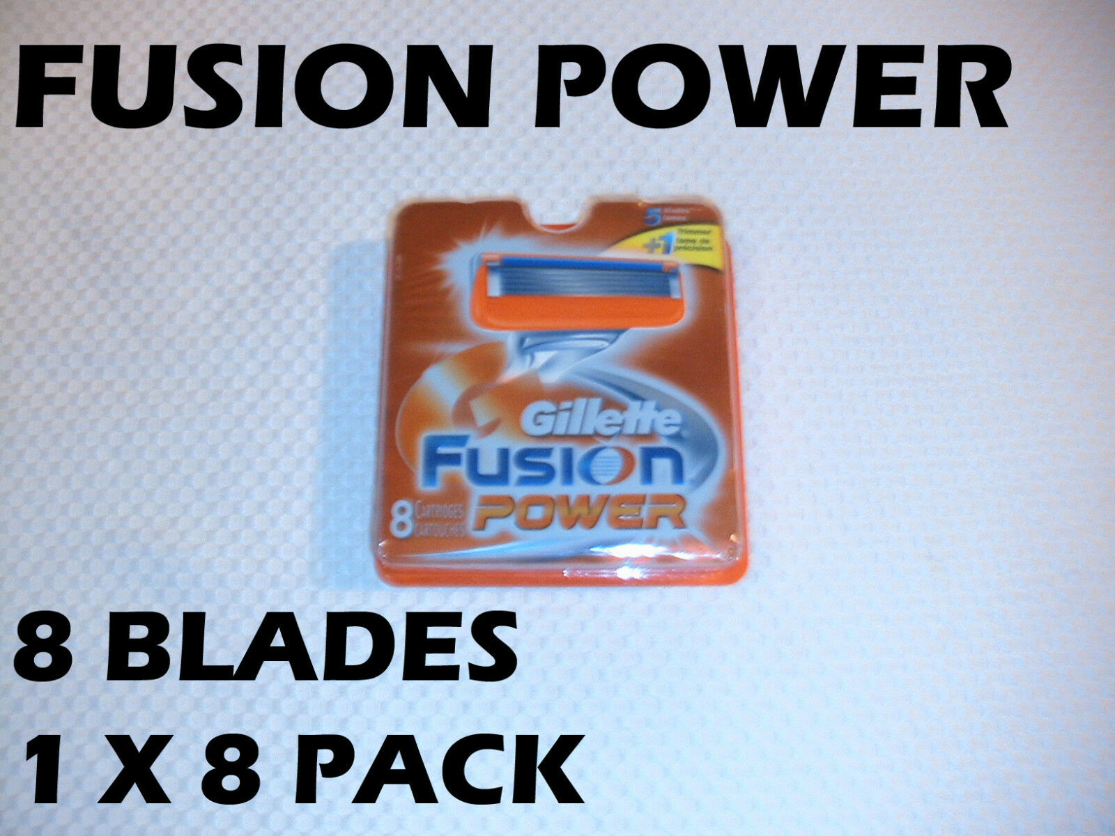 Gillette Fusion Power - 8 Count (1 X 8 Pack)