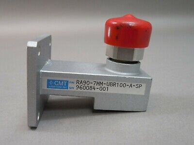 Cmt Ra90-7mm-ubr100-a-sp Waveguide To Coax Adapter Wr90 8.2-12.4ghz Apc7 Used