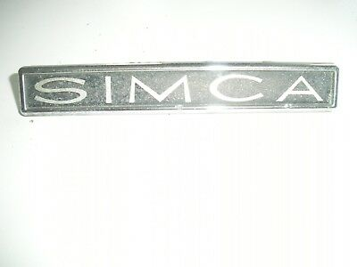 RARE Simca Original Vintage Classic Retro Chrome Car badge