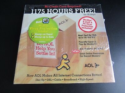 New Collectors Aol 9 0 Free 1175 Hours   50 Days Unused Vintage Promotional