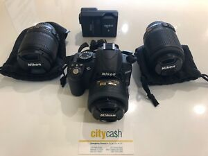 Nikon D3100 Camera 2x Lenses and Battery Charger Adelaide CBD Adelaide City Preview