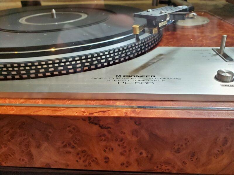 Restored Pioneer PL-530 Redwood burl veneer. Audiophile upgrades. BEAUTIFUL!