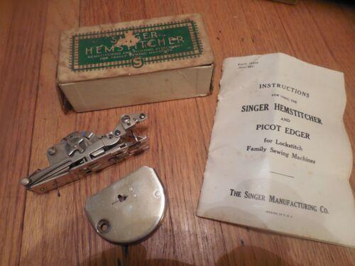 Vtg Singer Hemstitcher Picot Edger # 121387 All Original in box w/directions