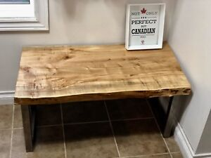 Live Edge solid coffee table