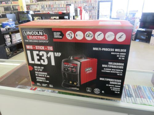 NEW Lincoln K3461-1 Multi-Process MIG TIG Stick Welder 120V, 120 Amp LE31M