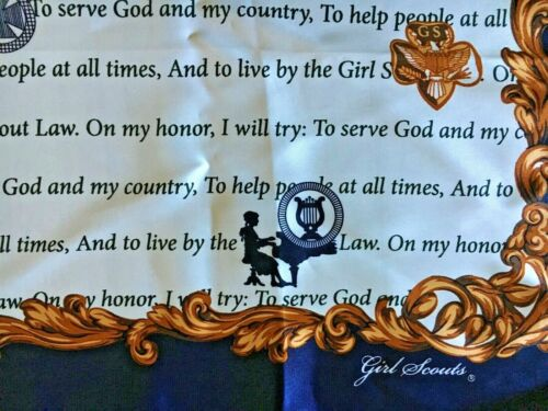 GIRL SCOUT SCARF SILK To Serve God and My Country NEW