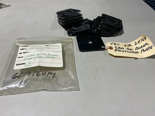 Lot of 13 General Electric SBM Switch Plate Blanks, 6016164P1, NOS no box