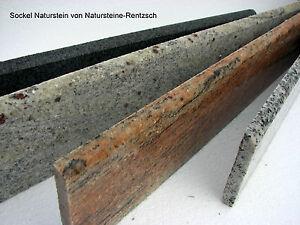 1 lfdm Sockel Wischkante  Sockelleiste Fliesensockel Randleiste Granit grau  NEU
