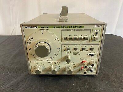 Leader Lag-126s Audio Signal Generator Low Distortion Test Equipment