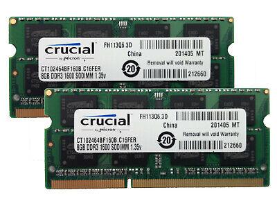 2x 8GB 16GB DDR3L 1600 Mhz RAM Speicher Lenovo ThinkPad X230 PC3L-12800S