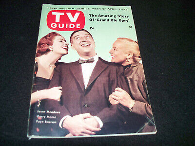 April 1956 TV Guide Jayne Meadows Garry Moore Faye Emerson Cover Grand Ole Opry