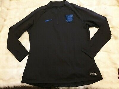 Nike England 2019 black Drill Top jumper midlayer football sweatshirt Size L M