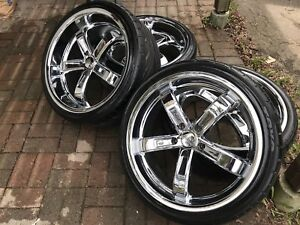 """Like new Donz 20"""" wheels with Toyo Proxes"""