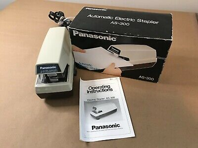 Panasonic Electric Stapler As-300 Commercial Vintage Heavy Duty With Box