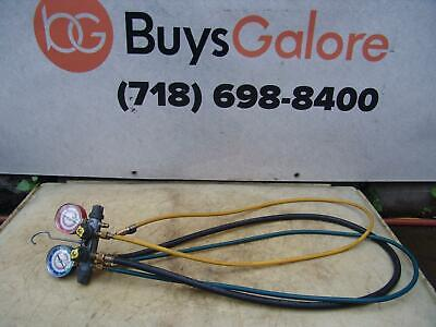 Yellow Jacket Hvac Manifold Ac Gauges Charging Nice Shape  1