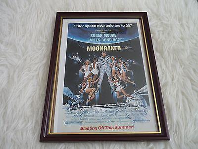 James bond 007 Collection Movie poster Tony nourman Framed Original Moonraker