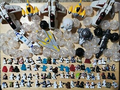STAR WARS Fighter Pods / Micro Force 80 figures, over 40 Pods, 10 vehicles  for sale  Shipping to Nigeria