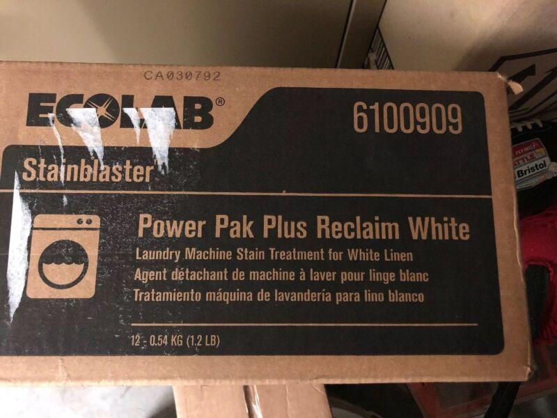Ecolab 6100909 StainBlaster Power Pak Plus Reclaim White Laundry Stain Remover