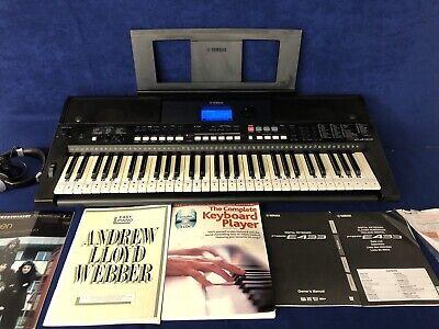 Yamaha PSR-E433 Touch Response Portable Keyboard - Black Boxed With Manuals