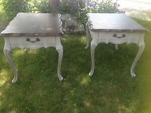 Refinished French Provincial Side Tables