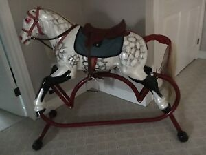 Beautiful Metal Antique Rocking Horse