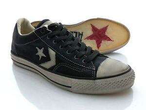 CONVERSE-John-Varvatos-Olive-Leather-Shoes-Size-9-5-US-9-UK-NEW-Star-Player-OX