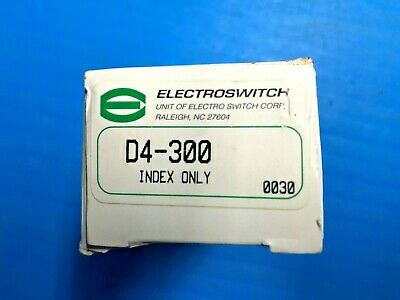 Electroswitch D4-300 Index Only