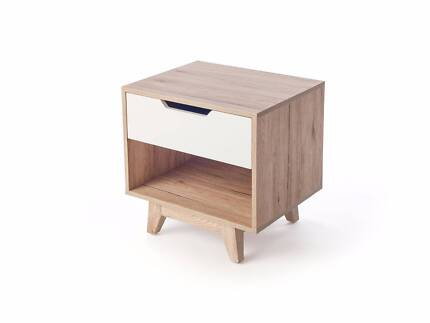 MOCKA JESSE BEDSIDE - FULLY ASSEMBLED - SHOWROOM ONLY