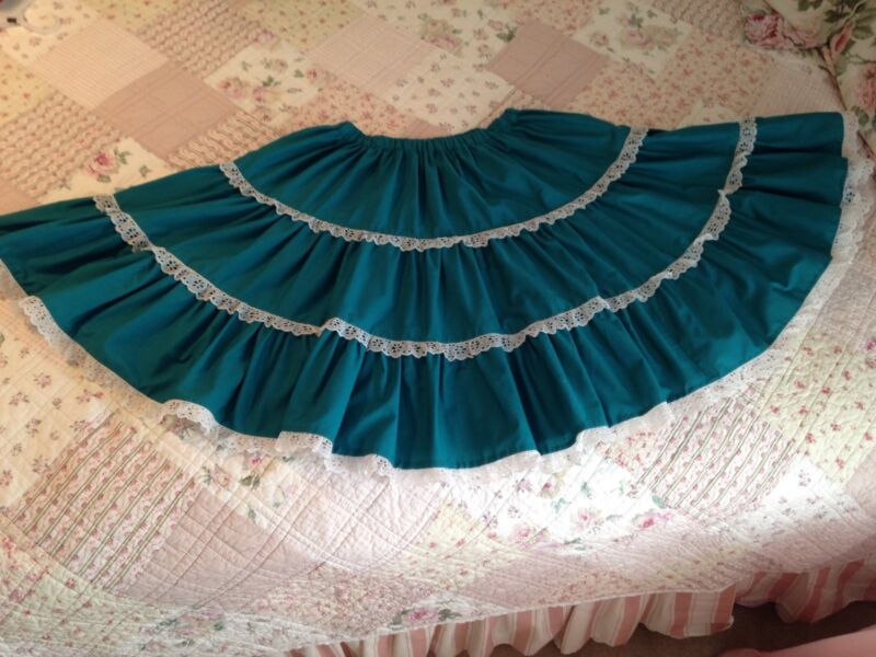 Real and Lace Square Dance Skirt, Blouse, and Partner Tie