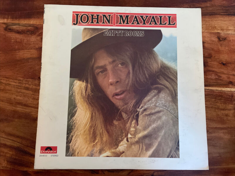 John Mayall Empty Rooms vinyl LP Very Clean With Inserts Linear Notes.
