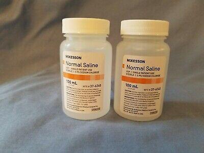 Mckesson Usp Normal Saline Solution - Sodium Chloride .9 100 Ml Lot Of 2