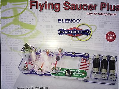 NIB Elenco Snap Circuits Flying Saucer Plus Kit - STEM ElectrIcity Learning Set