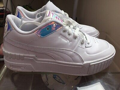 Puma Cali Sport Glow, Chunky White Iridescent Trainers, Uk 6 , Worn Once
