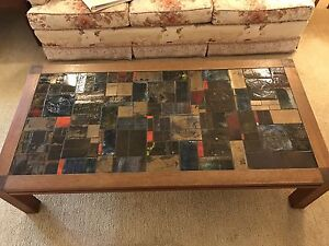 Retro tiled coffee table Putney Ryde Area Preview