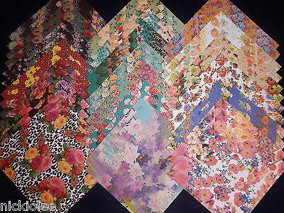 12x12 Scrapbook Paper Studio Spring Floral Flowers Bouquet Garden Roses Mom 40  (Floral Scrapbook Paper)