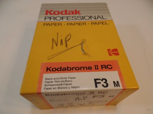 """NEW KODAK KODABROME II RC F3 Pro 3 1/2""""x5"""" 500 Sheets DARKROOM PAPER"""